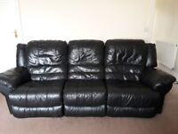 leather sofa and chair (electric reclining)
