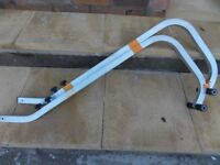Ladder crawler bars for converting your ladder to a crawler