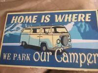 VW Camper van metal wall plaque brand new