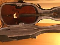 Cello - Full Size. Includes bow and case.