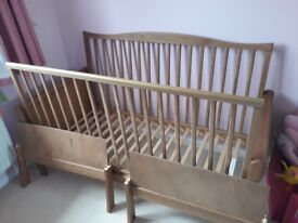 Kiddicare sleigh cot bed
