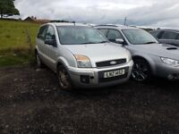 2007 FORD FUSION ZETEC CLIMATE 1.4 TDCI MANUAL BREAKING