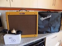 £375 ONO FENDER BLUES JNR LACQUERED TWEED BOXED AS NEW 5WKS OLD + FENDER COVER + FENDER FOOTSWITCH