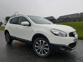 (WHITE) 2012 Nissan Qashqai 1.5 Dci N Tec + 360 VISION! FNSH! PAN-ROOF! SAT-NAV! 18 ALLOYS! STUNNING