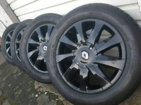 """16"""" renault alloy wheels with brand new tyres clio scenic Megan..."""