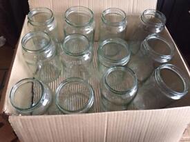 12x Glass Jars (no lids)