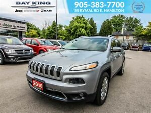 2016 Jeep Cherokee LIMITED, GPS NAV, PANO SUNROOF, BACKUP CAM, L