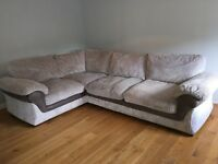 Large Grey DFS Corner Couch / Sofa