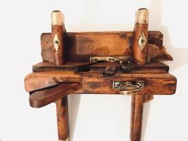 Antique Vintage Wooden Brass Plane GMALE Gorgeous Looking Collectible Wooden Plane !