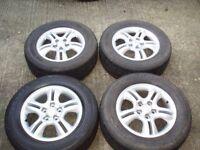 """16"""" Genuine set wheels 5x114,3 KIA SPORTAGE Sorento Hyundai Santa Fe 235/60/16 DELIVERY available"""