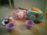 Fisher Price laugh and learn say please tea set with elc toaster