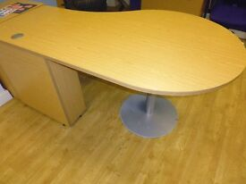 Must Sell Office Desk - Light Oak