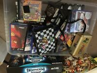Mixed box of games memory cards pops