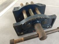 Vintage Woden 194 jaw carpenter joiner vice
