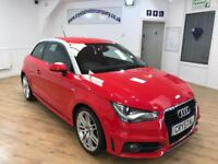 AUDI A1 1.4 TFSI S LINE 3d 122 BHP 18 IN ALLOYS + 6 MONTHS (red) 2011