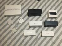 Genuine Iphone 4/4s/5/6/7 Ipad mini Apple TV 1st gen boxes headphones