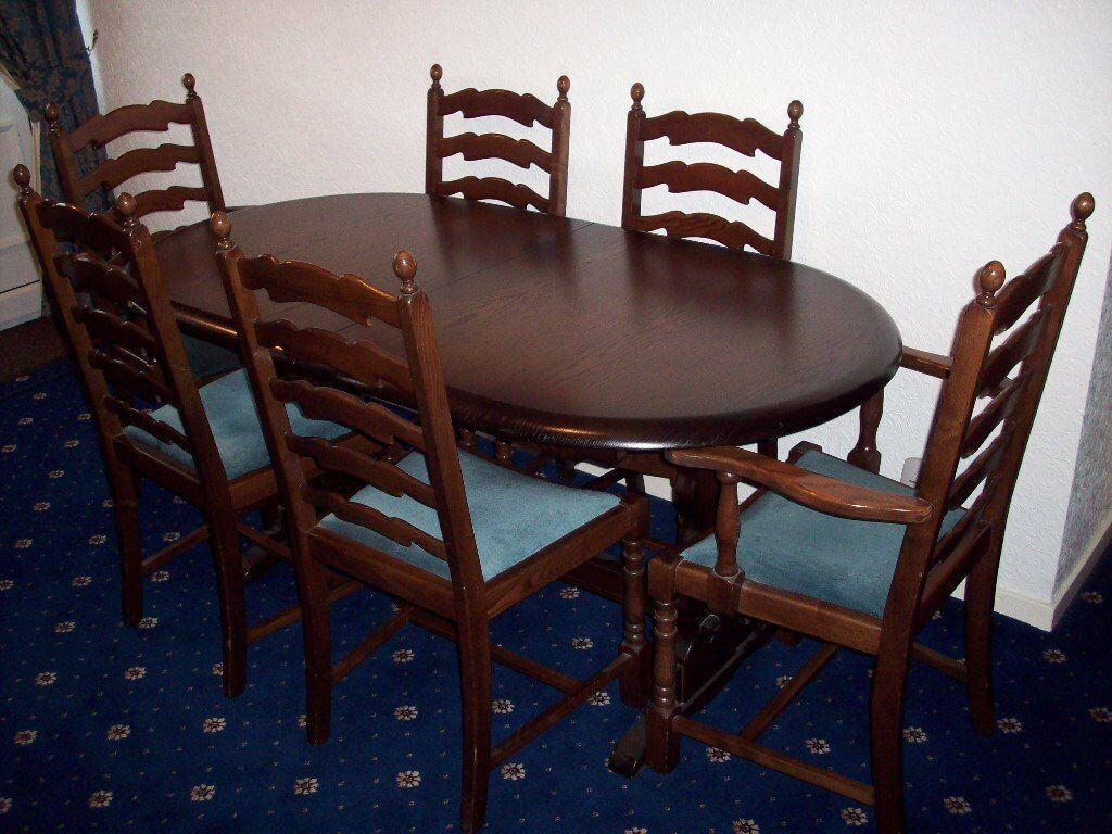 Priory Dining Table And Six Chairs