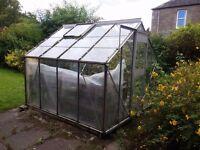 8ft Eden Greenhouse aluminium frame