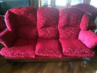 3 seater sofa and 2 single armchairs