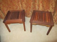 Pair of small garden tables (or for use in house) - can deliver in Aberdeen