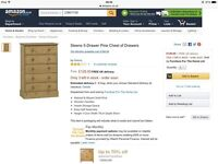 Brand New Steens 5 Drawer Solid Pine Chest