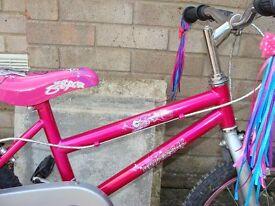 "pink Rock Star Bike 16"" wheels"