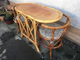 Caine Table & Chairs ( Can Deliver )