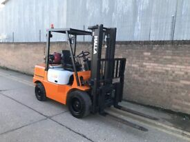 Halla 3ton gas forklift, side shift, good tyres, ready for work