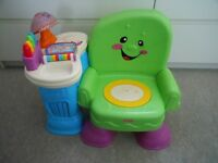 Fisher Price Laugh n Learn Green Musical Activity Chair