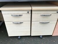 Small office filing cabinet with keys