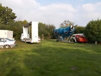 OUTDOOR STORAGE - CARAVANS/CARS/BOATS NEAR NORWICH/FROM £5 WEEK
