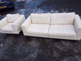 3 + chair cream sofa