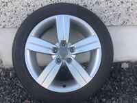 17INCH 5/112 GENUINE AUDI TT ALLOY WHEELS WITH GOOD TYRES FIT VW SEAT SKODA ETC