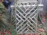 Used Decorative Fencing Panels x 10
