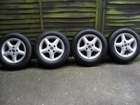 Refurbished Old School Ford Escort/ Fiesta/ Focus Alloy Wheels And Tyres.