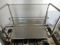 IKEA Designer Dish Drying Rack Drainer Metal Chrome 2 tier Style IKEA Washing Up
