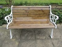 Vintage Garden Bench - Cast Iron Ends - New Wood - 4ft/1.23m - Refurbished
