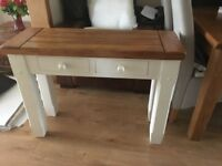 Oak Furniture Land Console Table in Excellent Condition