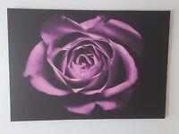 Beautiful purple flower artwork on canvas