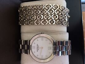 """Raymond Weil Mens Watch in silver, And a silver """"Chanel link"""" chain. **BOTH 100% GENUINE ITEMS**"""