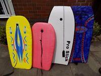 Set of 4 Bodyboards w/ Bag