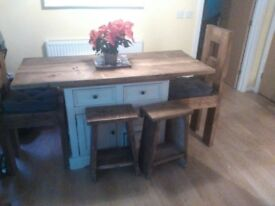 handmade dinning table/island beautifully hand buolt