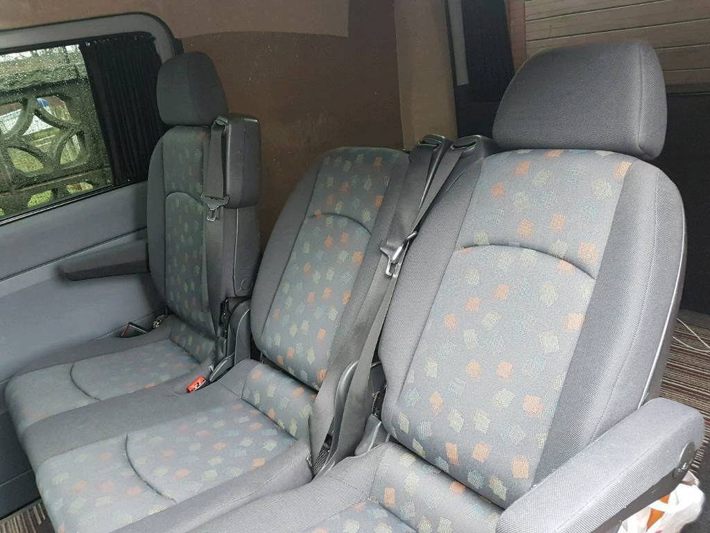 Mercedes Vito Rear Seats 2 1 Reclining And Folding In