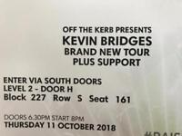 Kevin Bridges Tickets x 2 11th October 2018 seated together