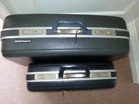 Original Samsonite small and medium hard case suitcases