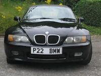 1998 BMW Z3 1.8 Black, Convertible soft top, Private Plate Included