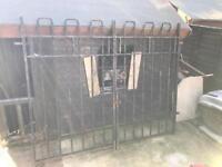 Very heavy duty iron gates made by Bayliss Jones and Bayliss