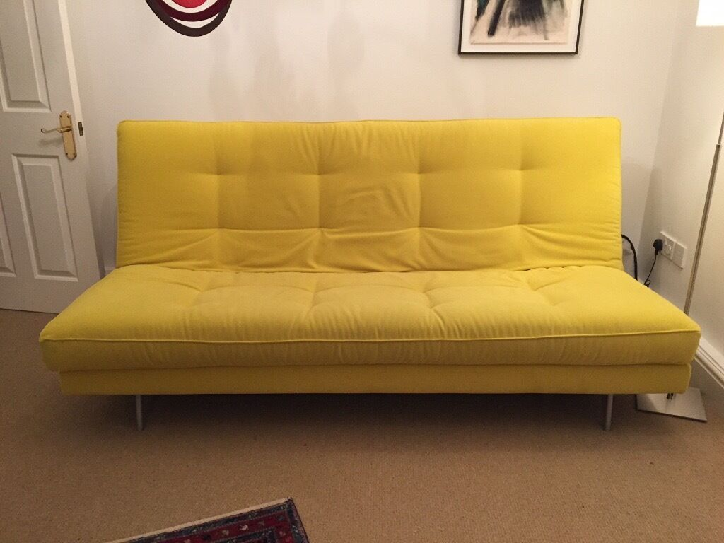 bright yellow ligne roset nomade express sofa bed in. Black Bedroom Furniture Sets. Home Design Ideas