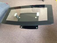 Black glass Coffee table, tv unit and 2x lamp tables