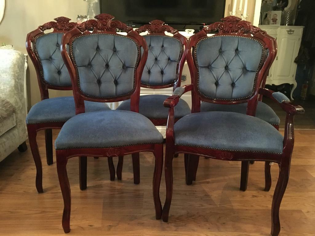 Five Louis style Dining Chairs